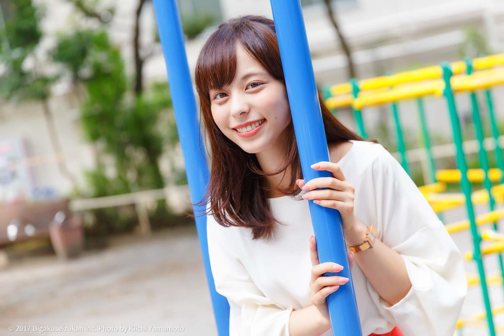 公園での山本萩子さん